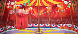 Grosh Backdrops and Drapery's 'Circus Tent Interior 2' backdrop.