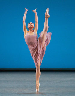 Sara Mearns in Jerome Robbins' 'Dances at a Gathering'. Photo by Paul Kolnik, for NYCB.