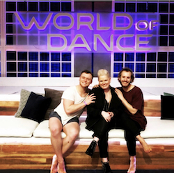 marInspired on the set of 'World of Dance'. Photo courtesy of NBC.