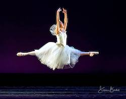 City Ballet of Cleveland dancer Adrienne Chan in 'Giselle'. Photo by Susan Bestul.