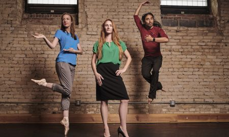 Diana Movius, founding artistic director; Etta Hulcher, director of operations; and Stephen Clapp, Executive Director, of Dance Loft on 14. Photo by Kirth Bobb.