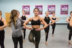 Karla Curatolo teaching at Expressenz Dance Center. Photo courtesy of Curatolo.