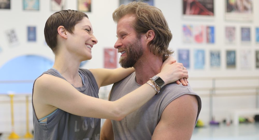 Catherine Wreford and Craig Ramsay in rehearsal. Photo by Heather Milne for RWB.