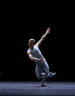 Derek Dunn in William Forsythe's 'Blake Works I'. Photo by Angela Sterling, courtesy of Boston Ballet.