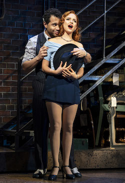 Corbin Bleu and Stephanie Styles in 'Kiss Me, Kate'. Photo by Joan Marcus.