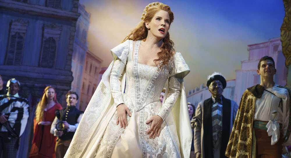 Kelli O'Hara in 'Kiss Me, Kate'. Photo by Joan Marcus.