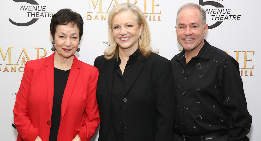 Lynn Ahrens, Susan Stroman and Stephen Flaherty, the creative team of 'Marie, Dancing Still'. Photo by Walter McBride.