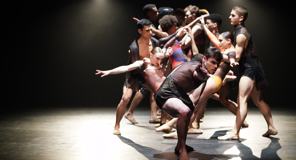 Tim Stickney and the company of Complexions in 'Woke'. Photo by Justin Chao.
