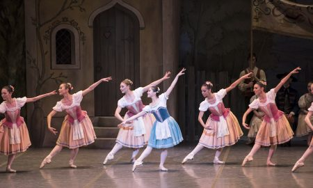 Misa Kuranaga and Boston Ballet in George Balanchine's Coppélia, courtesy of The George Balanchine Trust. Photo by Liza Voll, courtesy of Boston Ballet.