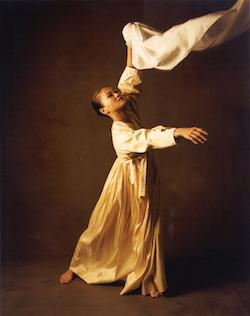 Dancer Miyako Nitadori performs movement from 'Tracings'. Photo courtesy of DTSBDC.