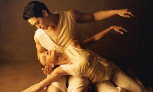 Choreographer Dana Tai Soon Burgess and dancer Tati Valle Riestra rehearse 'Tracings'. Photo courtesy of DTSBDC.