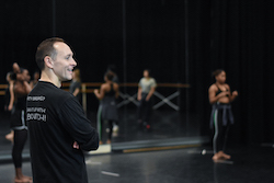 Dante Puleio in rehearsal for 'The Traitor' at University of Florida.