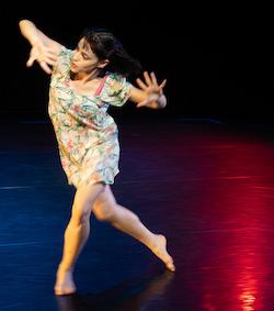 Liza Barskaya in 'Benita Bike's Dance Art'. Photo by Dean Wallraff.
