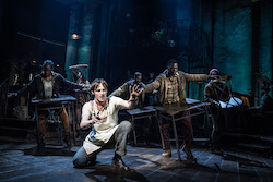 Reeve Carney and the Broadway cast of 'Hadestown'. Photo by Matthew Murphy.