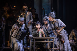 Eva Noblezada and the Broadway cast of 'Hadestown'. Photo by Matthew Murphy.