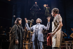Eva Noblezada, Andre De Shields and Reeve Carney in 'Hadestown'. Photo by Matthew Murphy.