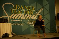 Mandy Moore teaching at Dance Teacher Summit.