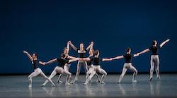 New York City Ballet in George Balanchine's 'Kammermusik No. 2'. Photo by Paul Kolnik.