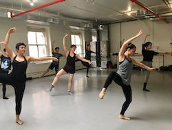 Bethany Mitchell teaching at NYC $5 Community Ballet.