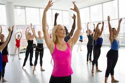 Kat Wildish teaching an adult ballet class. Photo by Kyle Froman.