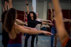 Martine Mattox teaching at Paris Jazz Dance Festival. Photo by Tom Clark.