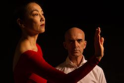 Miki Orihara and Stephen Pier in 'The Weather in the Room'. Photo by Christopher Jones.