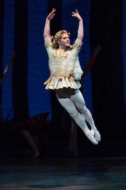 Daniel Ulbricht as Oberon in George Balanchine's 'A Midsummer Night's Dream'. Photo by Paul Kolnik.