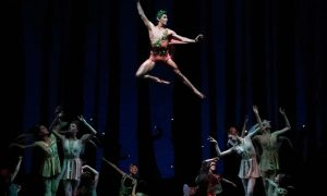 Roman Mejia as Puck in George Balanchine's 'A Midsummer Night's Dream'. Photo by Erin Baiano.