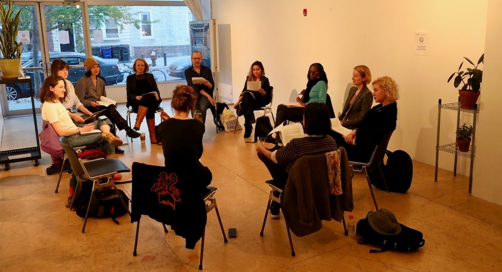 Performance Philosophy Reading Group. Photo by Kathryn Butler.