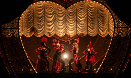 Jacqueline B. Arnold, Robyn Hurder, Holly James and Jeigh Madjus in 'Moulin Rouge! The Musical'. Photo by Matthew Murphy.