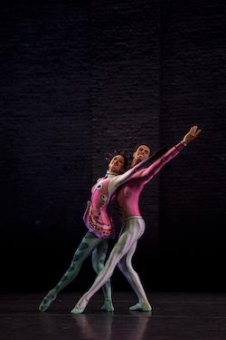 Romany Pajdak and Joseph Sissens in Kenneth MacMillan's 'Elite Syncopations'. Photo by Maria Baranova.