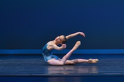 Catherine Rowland wearing SD16 ballet slippers at YAGP.