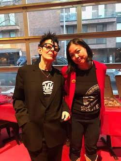 Elizabeth Streb and Christine Chen at SLAM. Photo by Cynthia Wang.