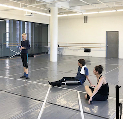 Karole Armitage and dancers in rehearsal.