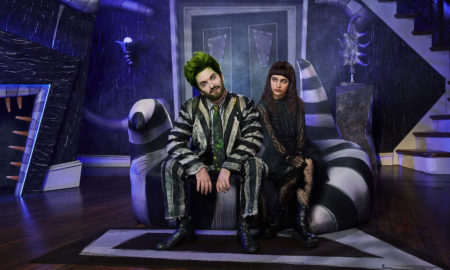 Alex Brightman and Sophia Anne Caruso in 'Beetlejuice'. Photo by Matthew Murphy.
