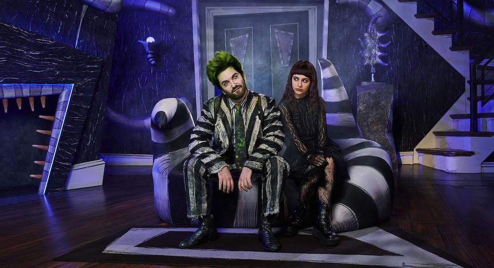 Alex Brightman and Sophia Anne Caruso in 'Beetlejuice'. Photo by Matthew Murphy.