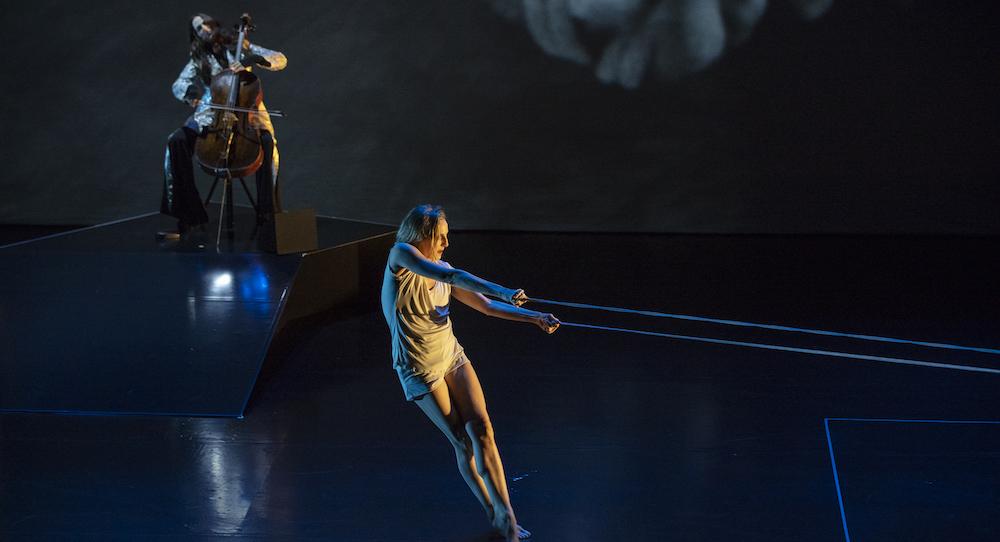 Maya Beiser and Wendy Whelan in 'The Day'. Photo by Nils Schlebusch.