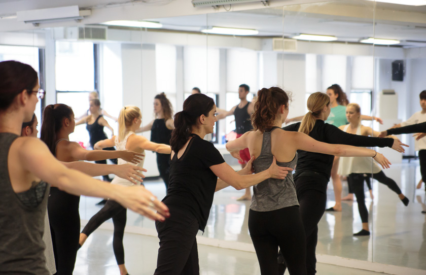Ginger Cox teaching at Broadway Dance Center. Photo by Eric Bandiero.