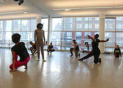 Jamar Roberts (in all black) rehearsing Ode with the Company. Photo by Nicole Tintle.