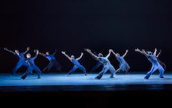 Alvin Ailey American Dance Theater in Jamar Roberts' 'Members Don't Get Weary'. Photo by Paul Kolnik.
