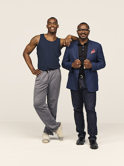 Alvin Ailey American Dance Theater Artistic Director Robert Battle and Jamar Roberts. Photo by Andrew Eccles.