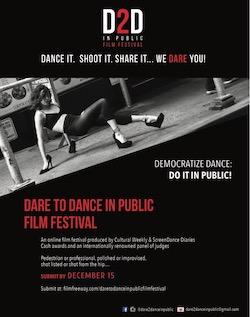 Dare to Dance in Public Film Festival flyer.