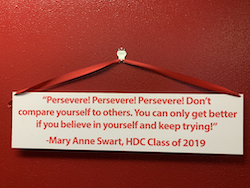 A senior's advice. Photo by Holly Derville-Teer.