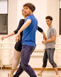 Artistic Director Barry Kerollis choreographing at Columbia Ballet Collaborative. Photo by Eduardo Patino.