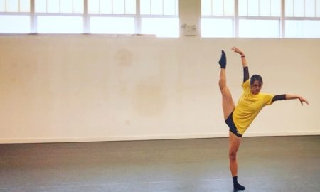 Serena Lu in rehearsal with Movement Headquarters.