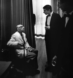 Michael Tilson Thomas and Igor Stravinsky. Photo by Arnold Newman.
