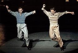 Kurt and Kyle Froman performing 'Duke!' at New York City Ballet. Photo by Paul Kolnik.