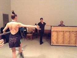 Yuka Kawazu teaching. Photo courtesy of Kawazu.