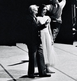 Lourdes Lopez and George Balanchine. Photo by Steven Caras.
