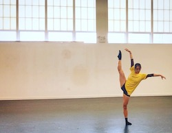 Serena Lu in rehearsal with Movement Headquarters. Photo courtesy of Barry Kerollis.